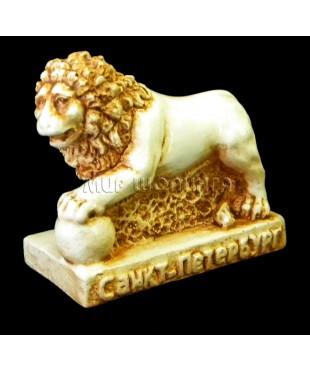 Лев (цвет кость) 5 см.