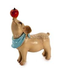 Свинья с яблоком 8*3*6 см.