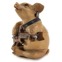 Свинья с гитарой 6*7*4 см.