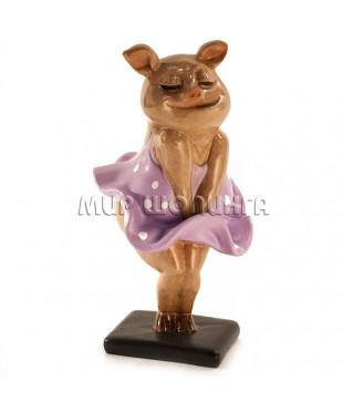 Свинья (Мэрилин Монро)10*4,5*4,5 см.