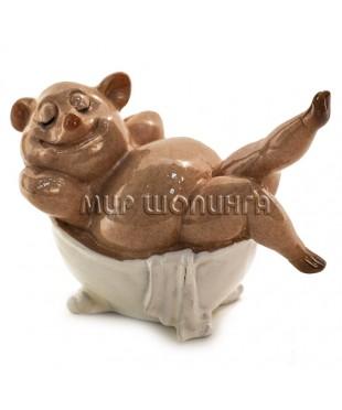 Свинья в ванной 6,5*5*8 см.