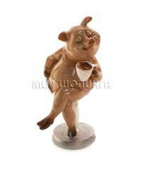 Свинья с чашкой 10*5*6 см.