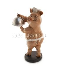 Свинья повар 10*5*6 см.