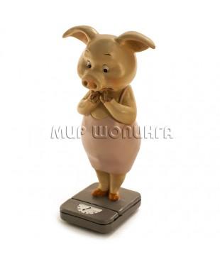 Свинья на весах №2 11*5,5*4,5 см.