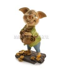 Свинья с мешком денег 11*7*5 см.