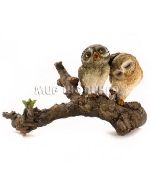 Две совы на ветке 9 см.