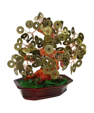 Дерево с монетами 20*17*14 см.