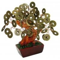 Дерево с монетами 15*15*14 см.