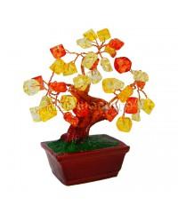 Янтарное дерево 11*10*7 см.