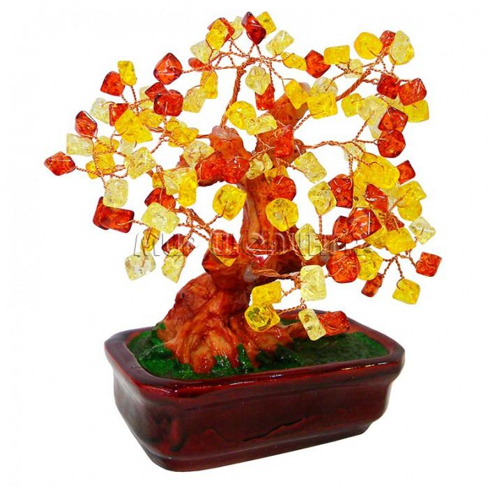 Дерево денежное из янтаря своими руками 80