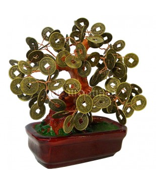 Дерево с монетами 16*17*11 см.