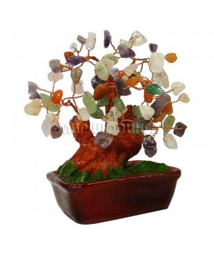 Дерево из самоцветов 14*14*11 см.
