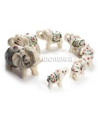 Семь слонов (белые) KL-135wite.