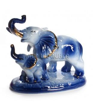 Два слона (синие) 11*8*12 см.
