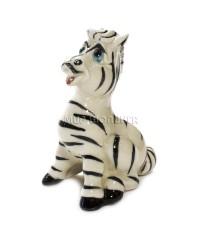 Статуэтка зебра фарфоровая 8*4,5*5 см.