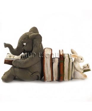 Слон и заяц - читатели книг 6 см.