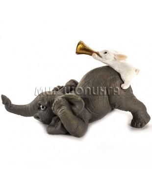 Слон и заяц трубач 5 см.
