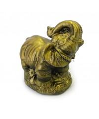 Слон с поднятым хоботом (цвет бронзовый) 5 см.