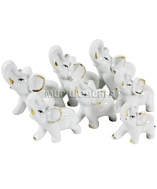 Семь слонов (белые) KL-769