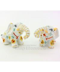 Два слона белые (фарфор) 6,5*5*10 см.