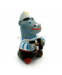 Статуэтка Бегемот - Капитан (свисток) 7*5*4,5 см.