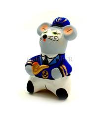 Статуэтка Мышь - Капитан (свисток) 6,5*4*4 см.
