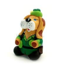 Статуэтка Пёс - Охотник (свисток) 7*4,5*4 см.