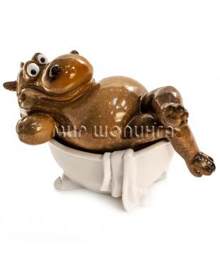 Бегемот в ванной 10*9*16 см.