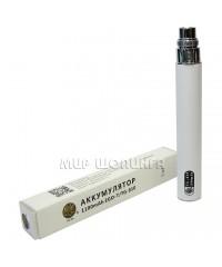 Аккумулятор для электронных сигарет EGO, EVOD, белый.