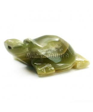 Черепаха из оникса 3,8*11*8 см.