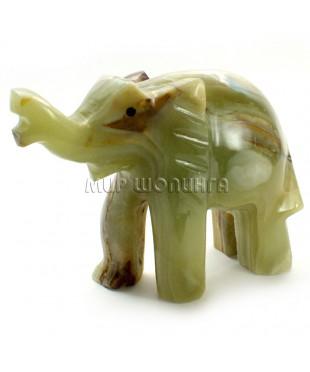 Слон из оникса 8*10 см.