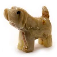 Собака из оникса 6,5*8*3 см.