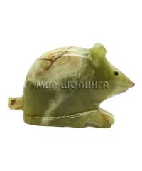 Мышь из оникса 10х6 см.