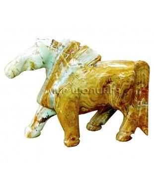 Лошадь из оникса 16 см.