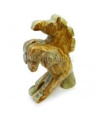 Лошадь из оникса 10 см.