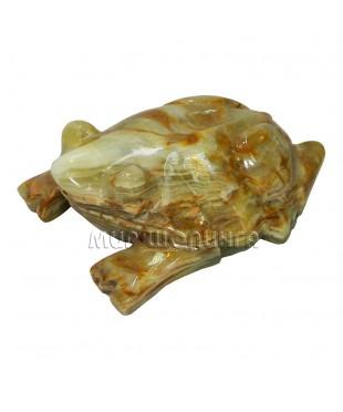 Лягушка из оникса 3,5*10,5 см.
