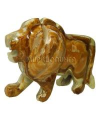 Лев из оникса 8*11,5 см.