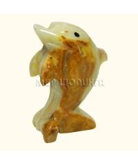 Дельфин из оникса 8*5,5 см.