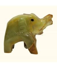 Слон из оникса 5*6,5 см.