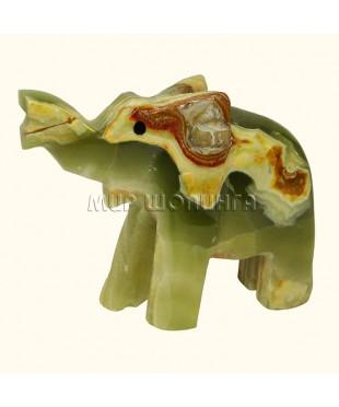 Слон из оникса 6,5*8 см.
