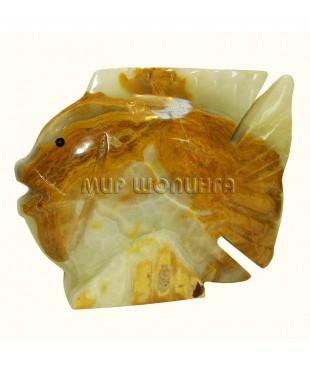 Рыба из оникса 10,5*12,8 см.