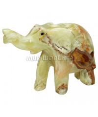 Слон из оникса 11,5*16*5 см.