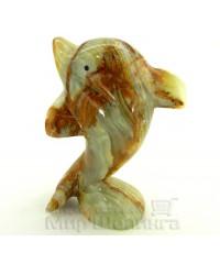 Дельфин из оникса 14 см.