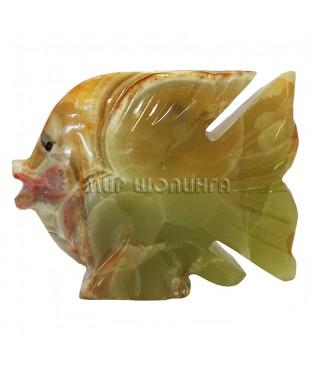 Рыба из оникса 8*10*3,3 см.