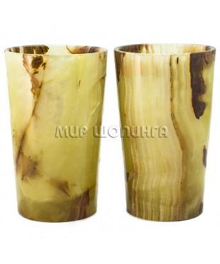 2 стакана из оникса 12*7,5 см.