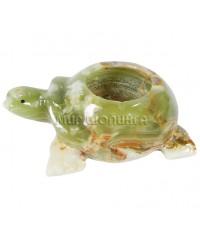 Пепельница из оникса (черепаха) 11,5*15 см.