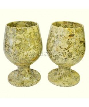 2 бокала из ЯШМЫ 9,5*6 см.
