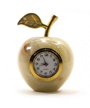 Яблоко из оникса с часами 6,5*5 см.