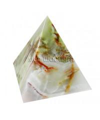 Пирамида из оникса 10 см.