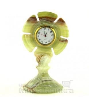 Часы из оникса 12 см.